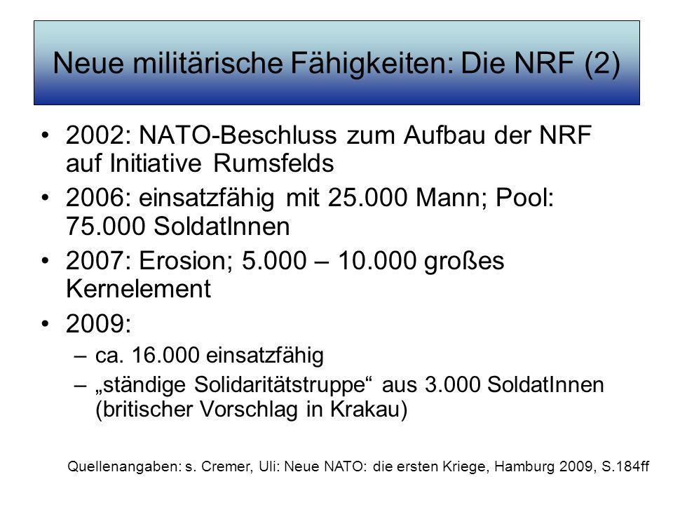 Neue militärische Fähigkeiten: Die NRF (2)