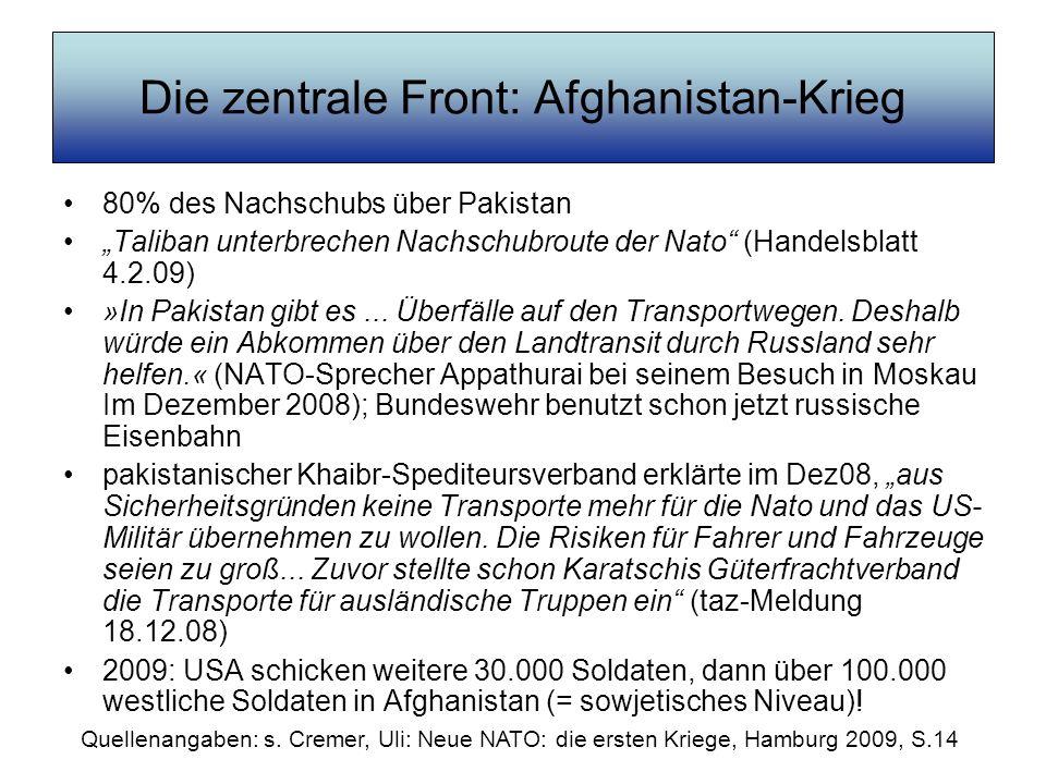 Die zentrale Front: Afghanistan-Krieg