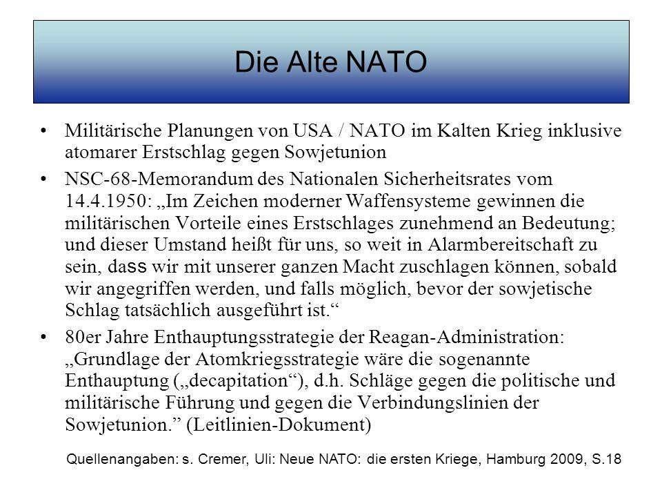 Die Alte NATO Militärische Planungen von USA / NATO im Kalten Krieg inklusive atomarer Erstschlag gegen Sowjetunion.