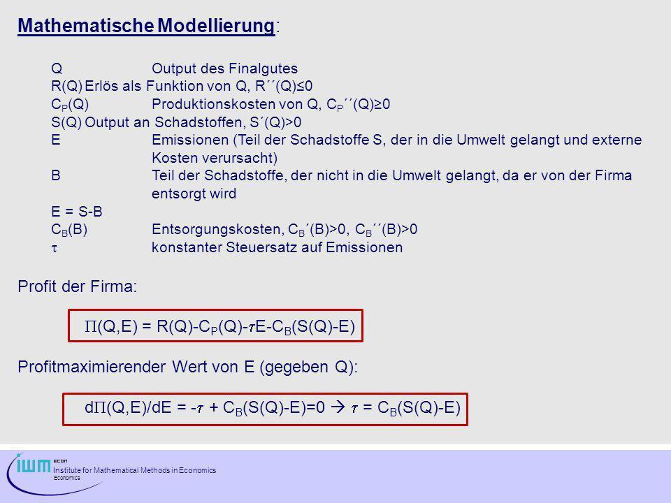 Mathematische Modellierung: