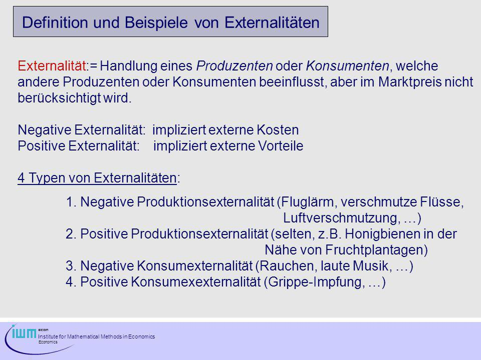 Definition und Beispiele von Externalitäten