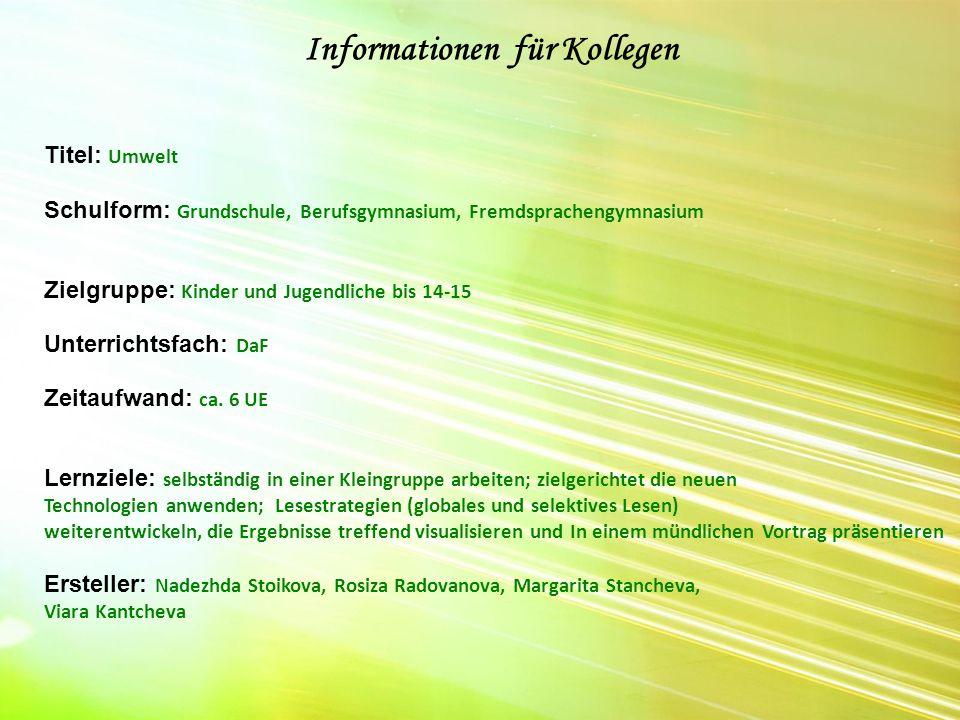 Informationen für Kollegen