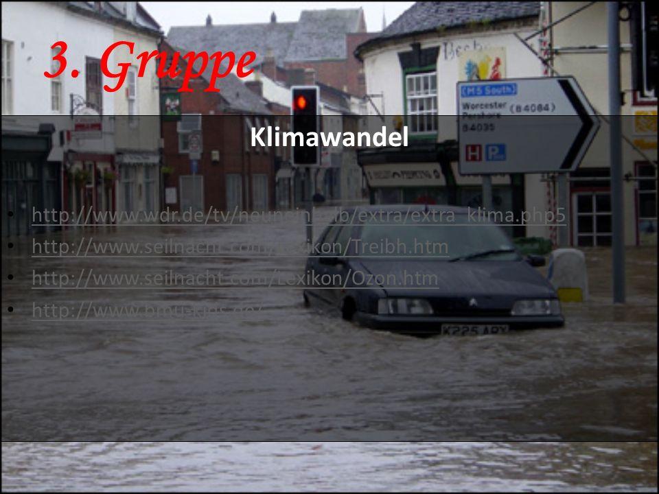 3. Gruppe Klimawandel. http://www.wdr.de/tv/neuneinhalb/extra/extra_klima.php5. http://www.seilnacht.com/Lexikon/Treibh.htm.