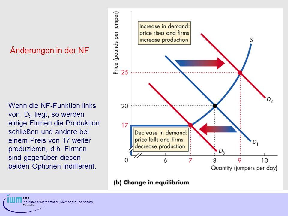 Änderungen in der NF Wenn die NF-Funktion links