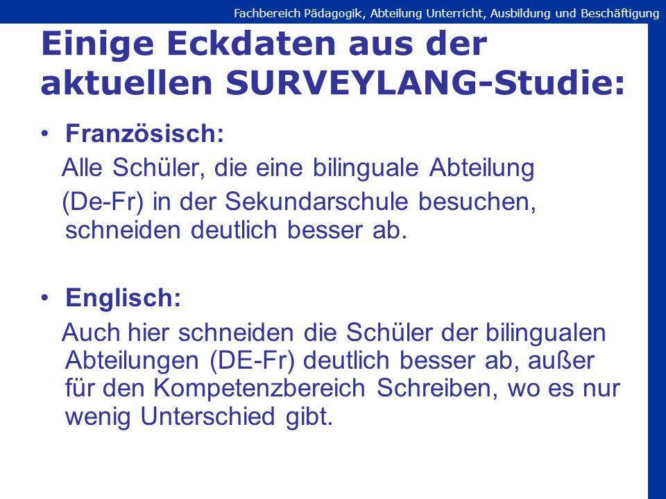Einige Eckdaten aus der aktuellen SURVEYLANG-Studie: