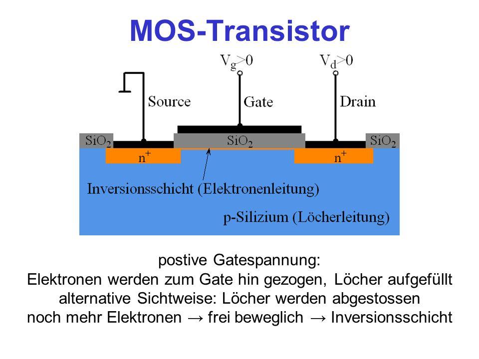 MOS-Transistor postive Gatespannung: