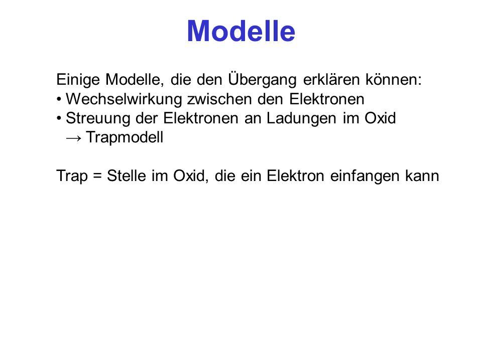 Modelle Einige Modelle, die den Übergang erklären können: