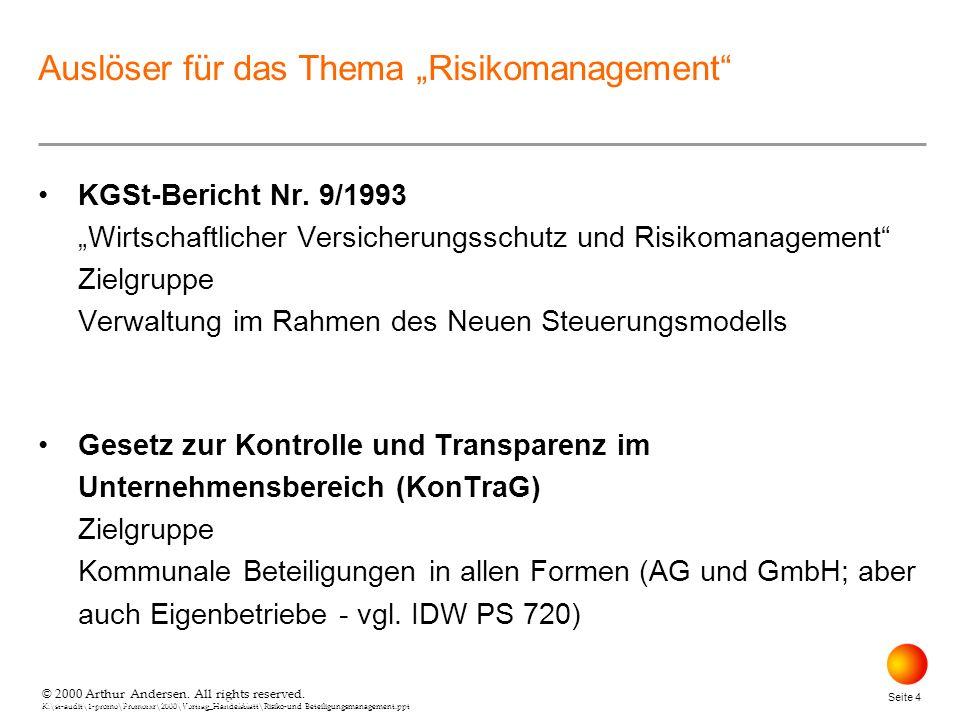"""Auslöser für das Thema """"Risikomanagement"""