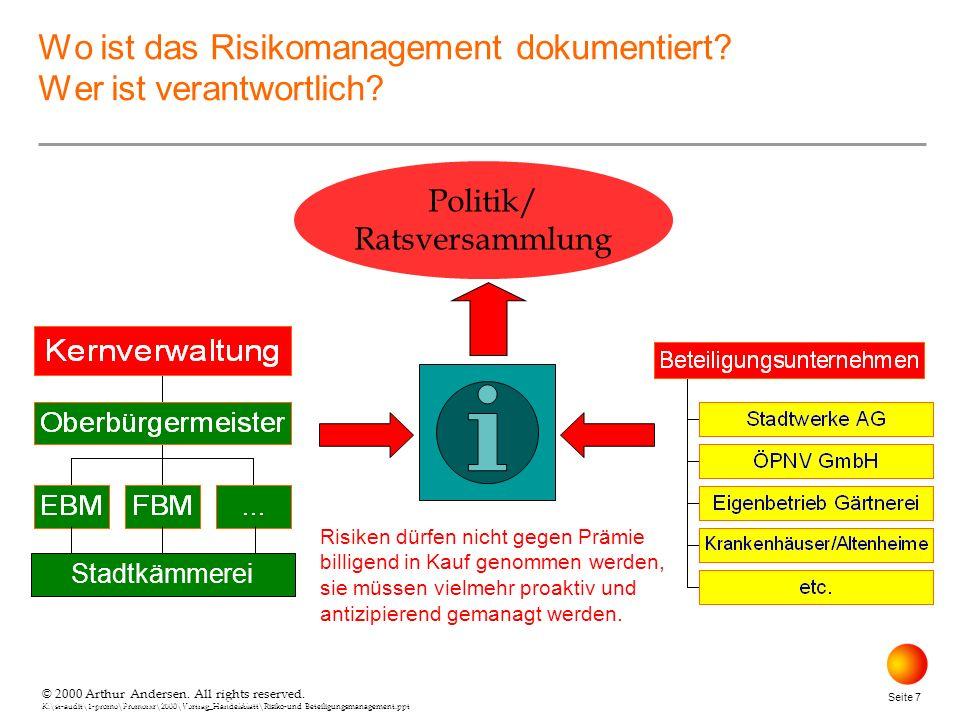 Wo ist das Risikomanagement dokumentiert Wer ist verantwortlich
