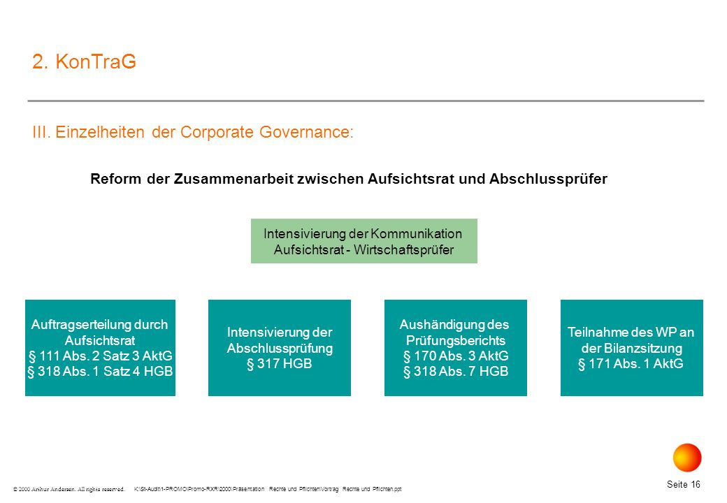 Reform der Zusammenarbeit zwischen Aufsichtsrat und Abschlussprüfer