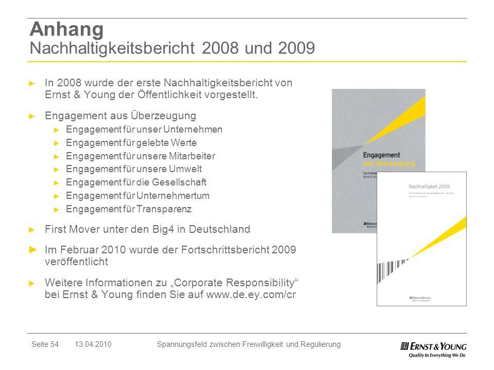 Anhang Nachhaltigkeitsbericht 2008 und 2009