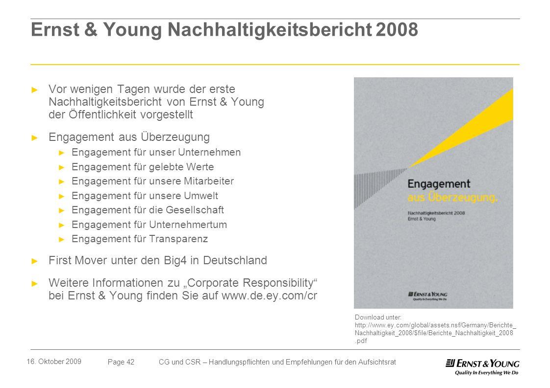 Ernst & Young Nachhaltigkeitsbericht 2008