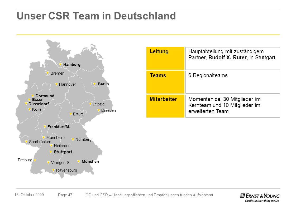 Unser CSR Team in Deutschland