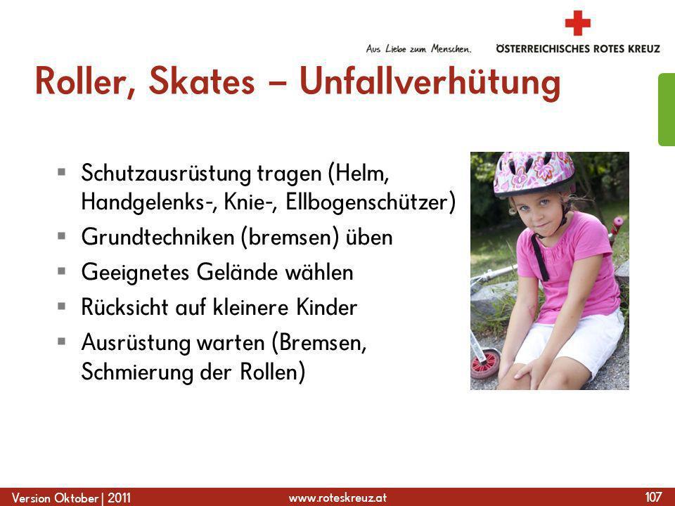 Roller, Skates – Unfallverhütung