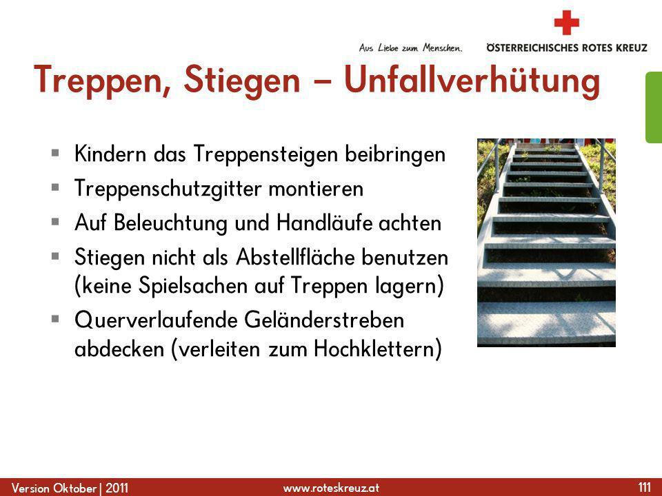Treppen, Stiegen – Unfallverhütung
