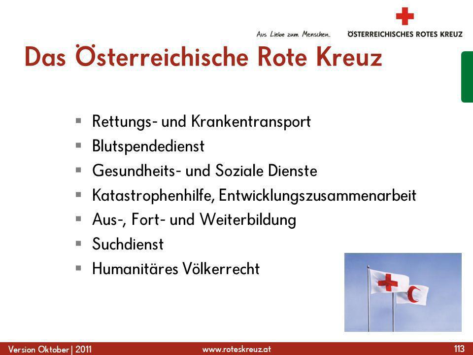 Das Österreichische Rote Kreuz