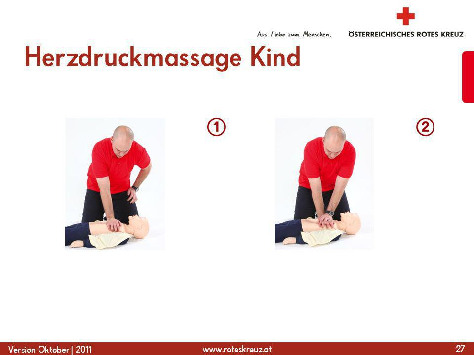 Herzdruckmassage Kind