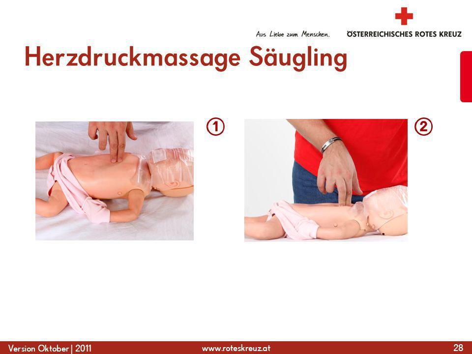 Herzdruckmassage Säugling