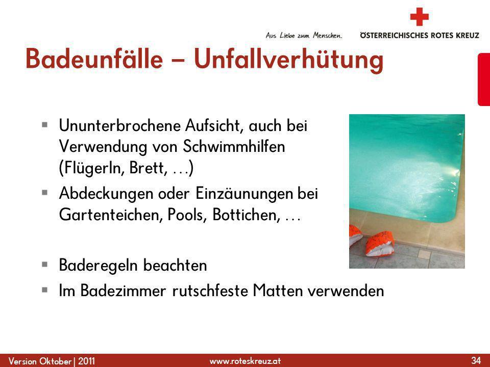 Badeunfälle – Unfallverhütung