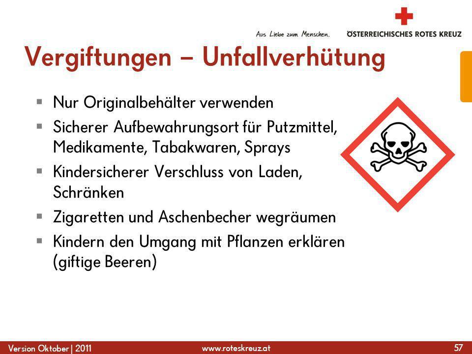 Vergiftungen – Unfallverhütung