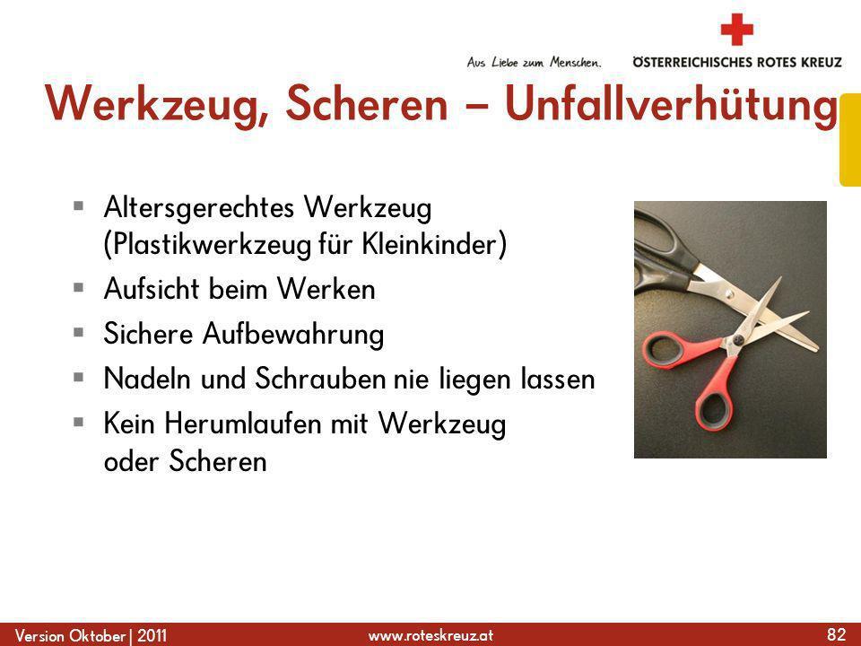 Werkzeug, Scheren – Unfallverhütung