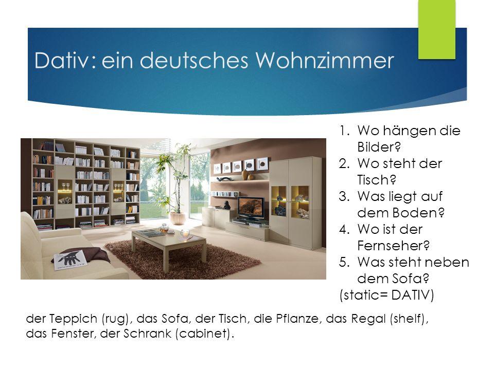 Dativ: ein deutsches Wohnzimmer