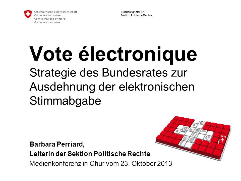 Vote électronique Strategie des Bundesrates zur Ausdehnung der elektronischen Stimmabgabe