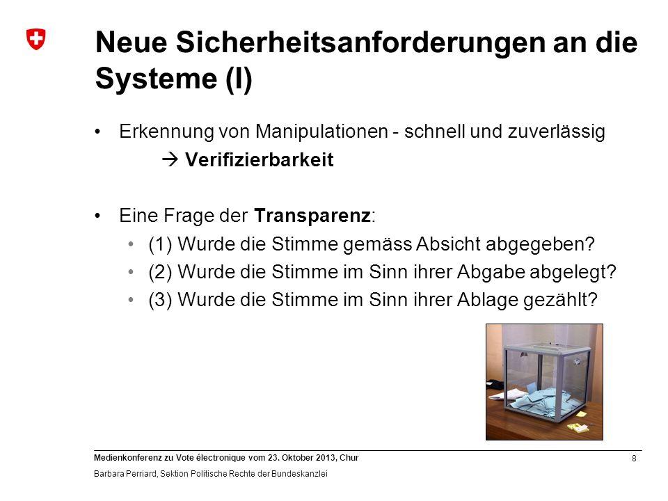 Neue Sicherheitsanforderungen an die Systeme (I)
