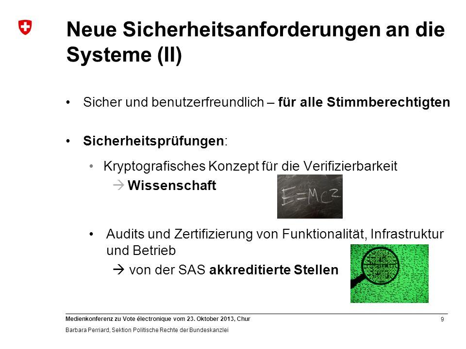Neue Sicherheitsanforderungen an die Systeme (II)