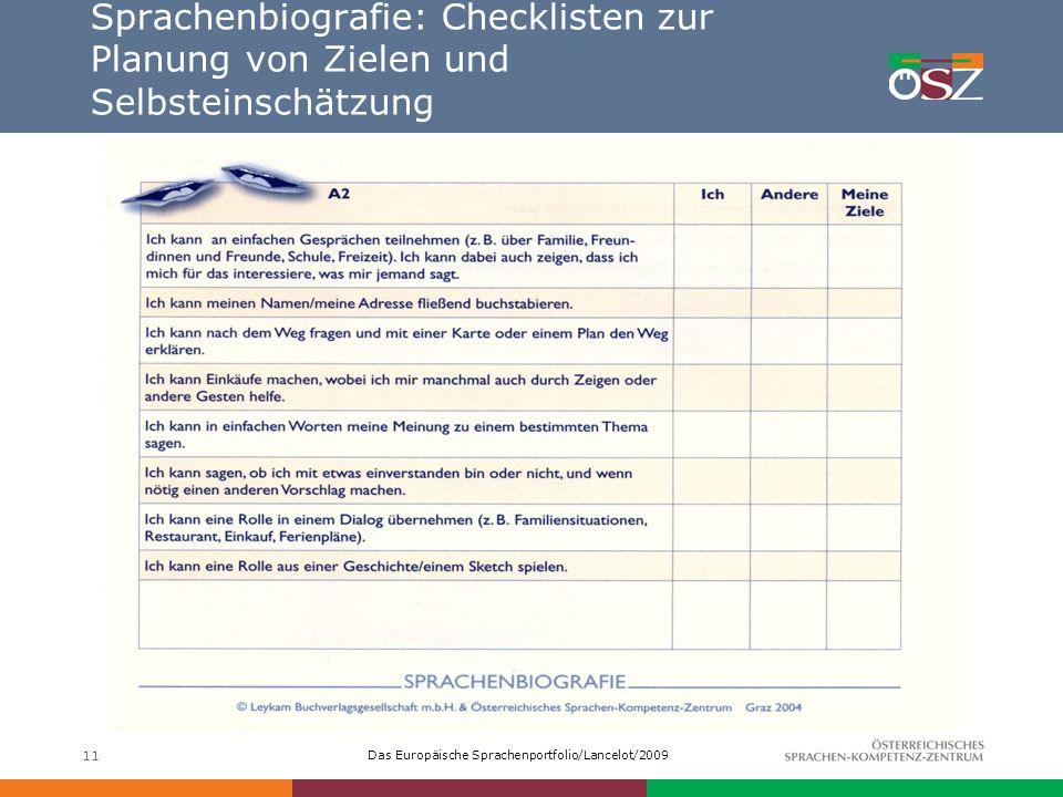 Sprachenbiografie: Checklisten zur Planung von Zielen und Selbsteinschätzung