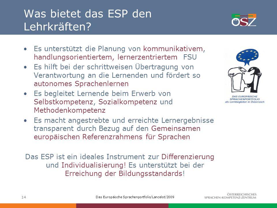 Was bietet das ESP den Lehrkräften