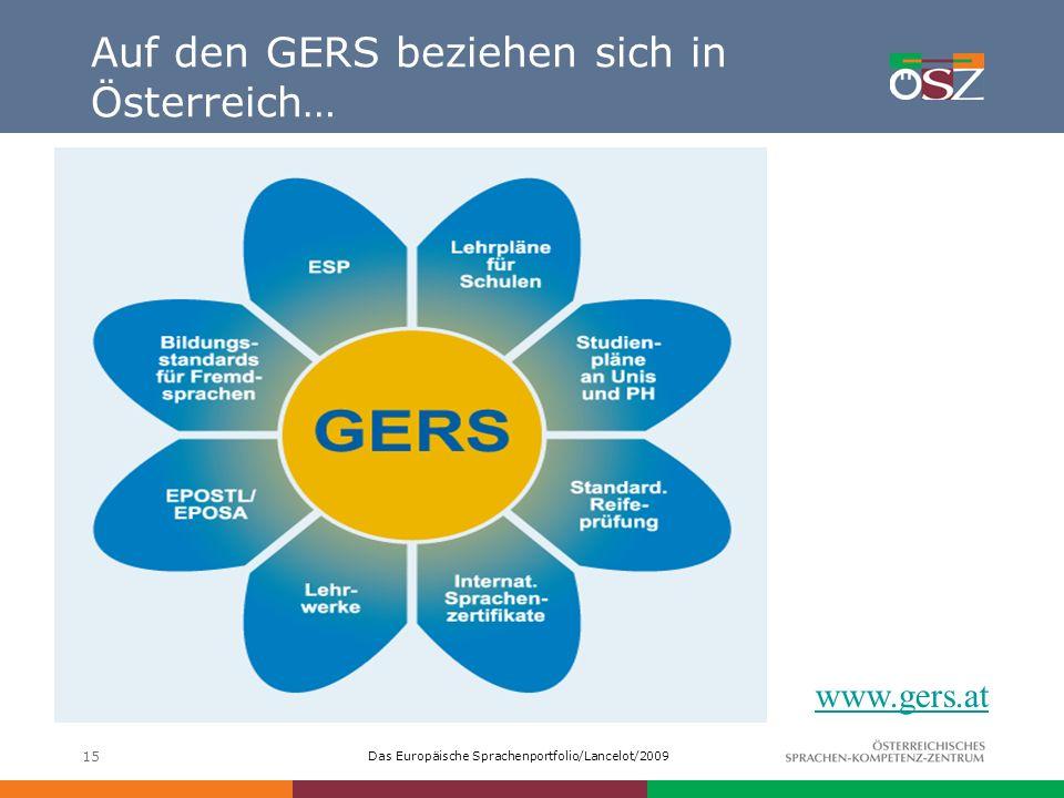 Auf den GERS beziehen sich in Österreich…