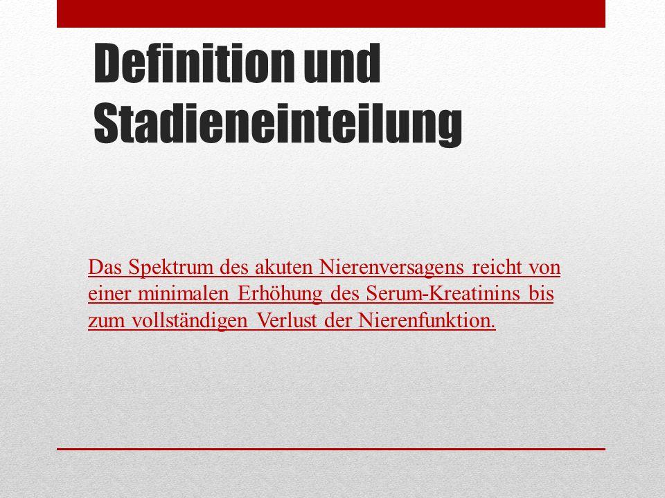 Definition und Stadieneinteilung