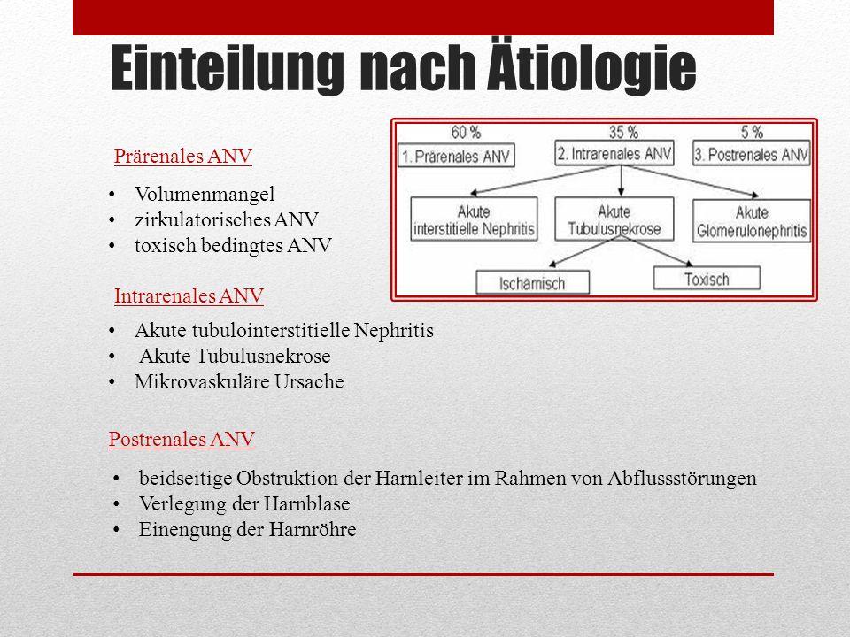 Einteilung nach Ätiologie