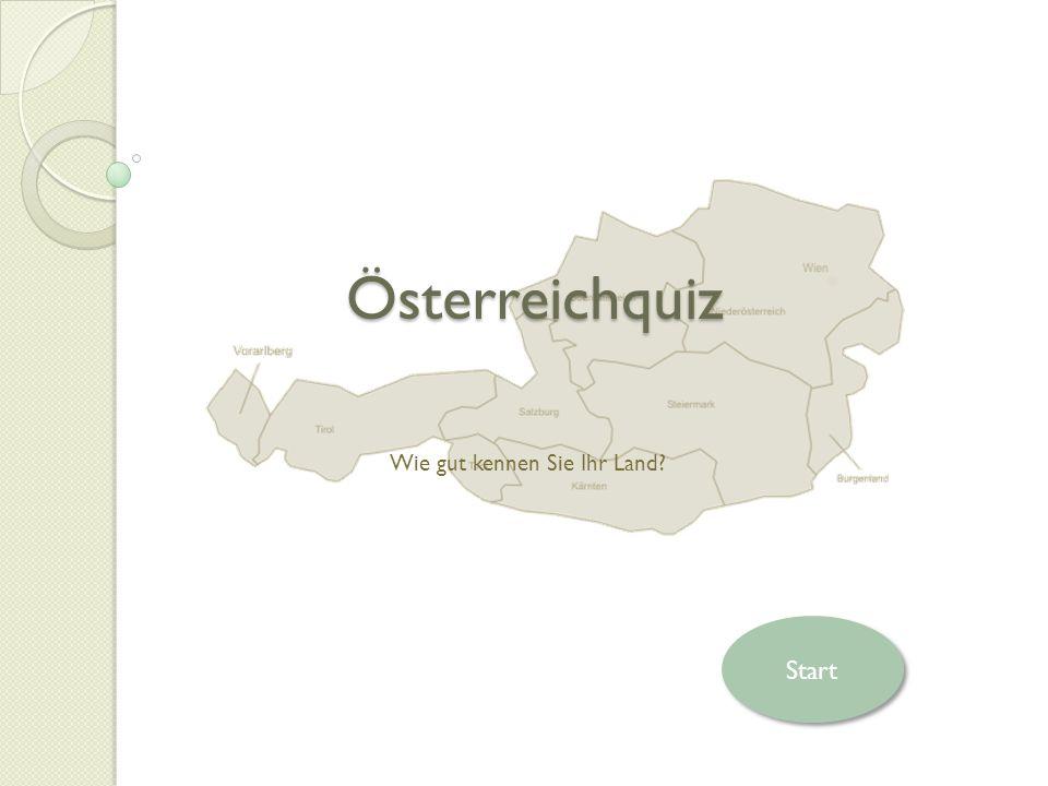 Österreichquiz Wie gut kennen Sie Ihr Land Start