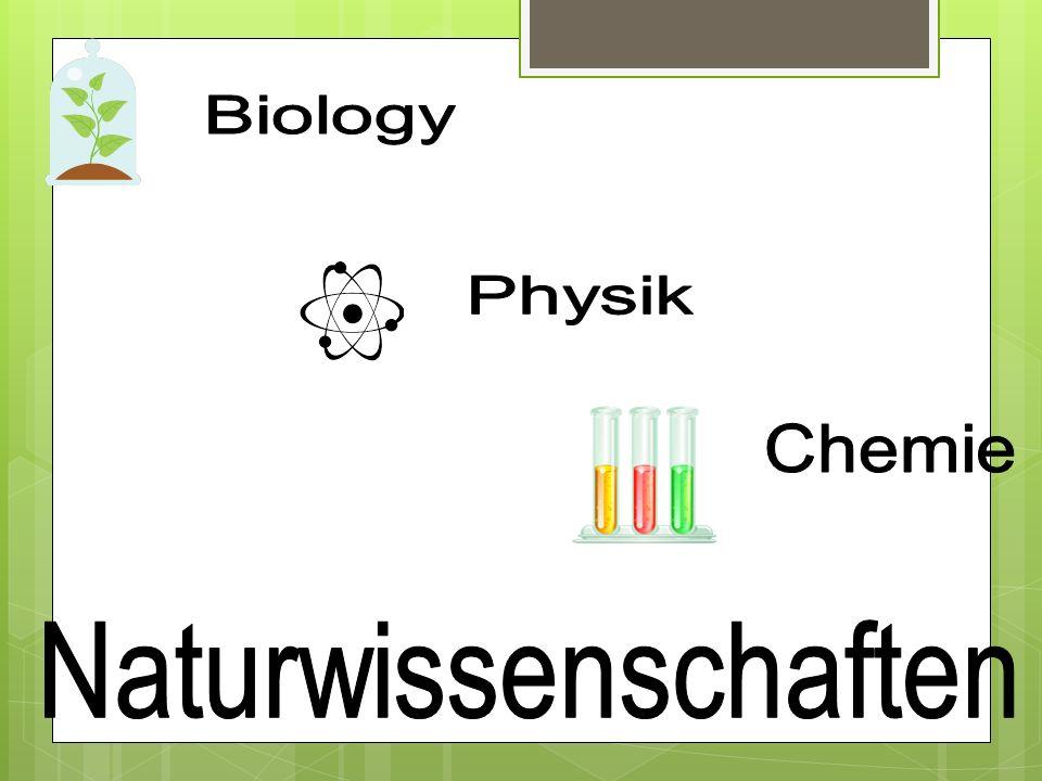 Biology Physik Chemie Naturwissenschaften