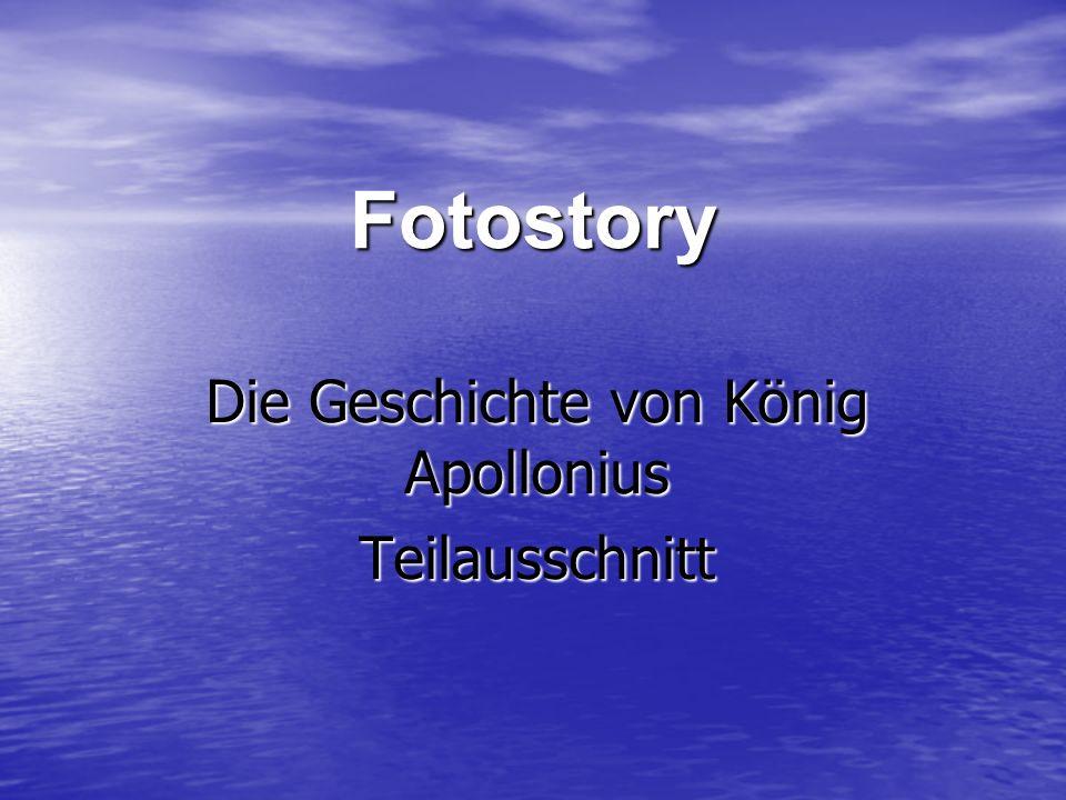 Die Geschichte von König Apollonius Teilausschnitt