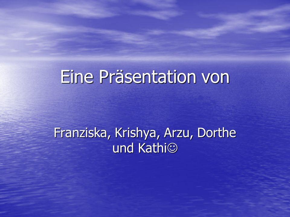 Franziska, Krishya, Arzu, Dorthe und Kathi