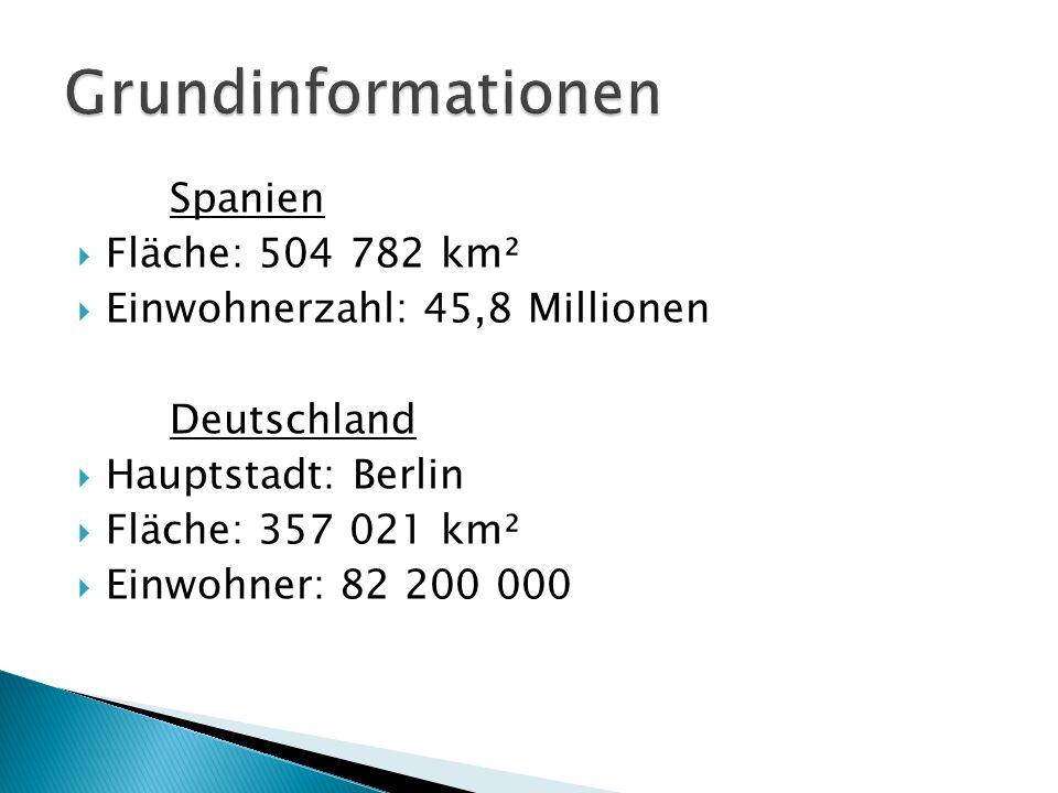 Grundinformationen Spanien Fläche: 504 782 km²