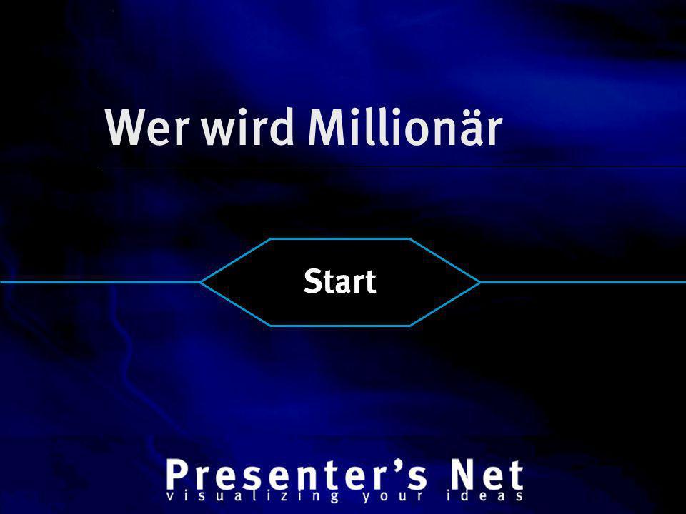 Wer wird Millionär Start