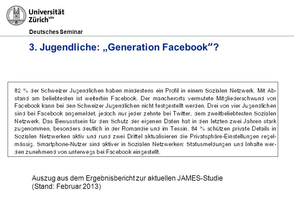 """3. Jugendliche: """"Generation Facebook"""