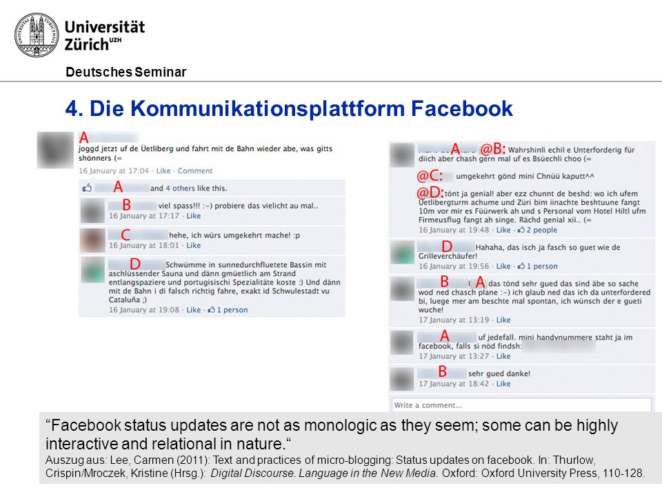 4. Die Kommunikationsplattform Facebook