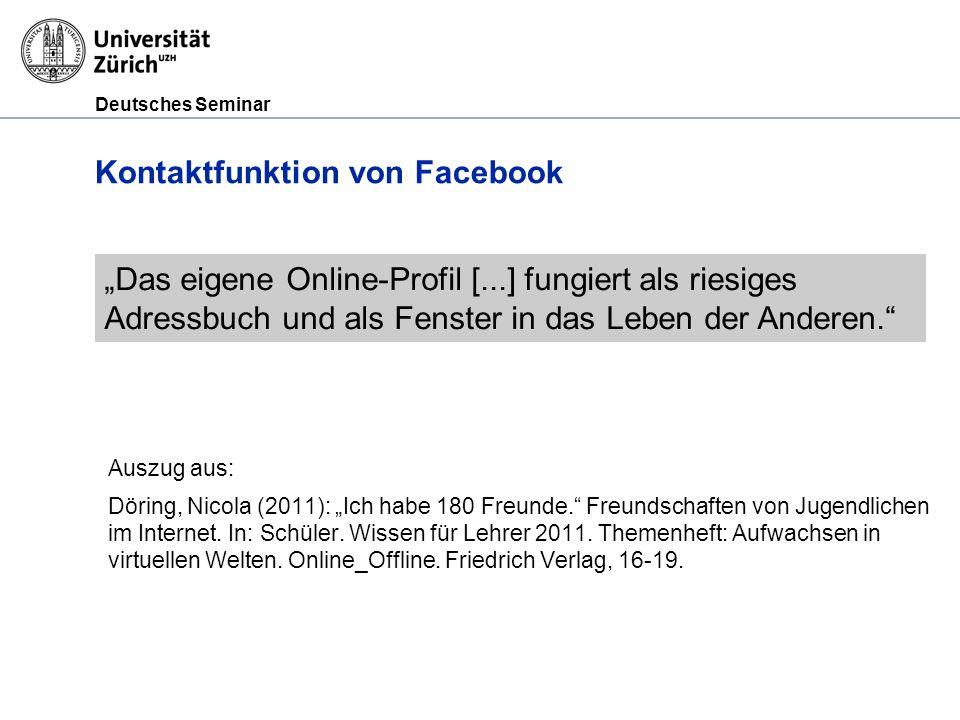 Kontaktfunktion von Facebook