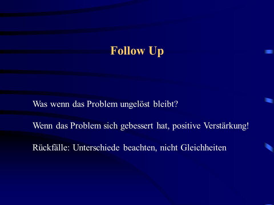 Follow Up Was wenn das Problem ungelöst bleibt