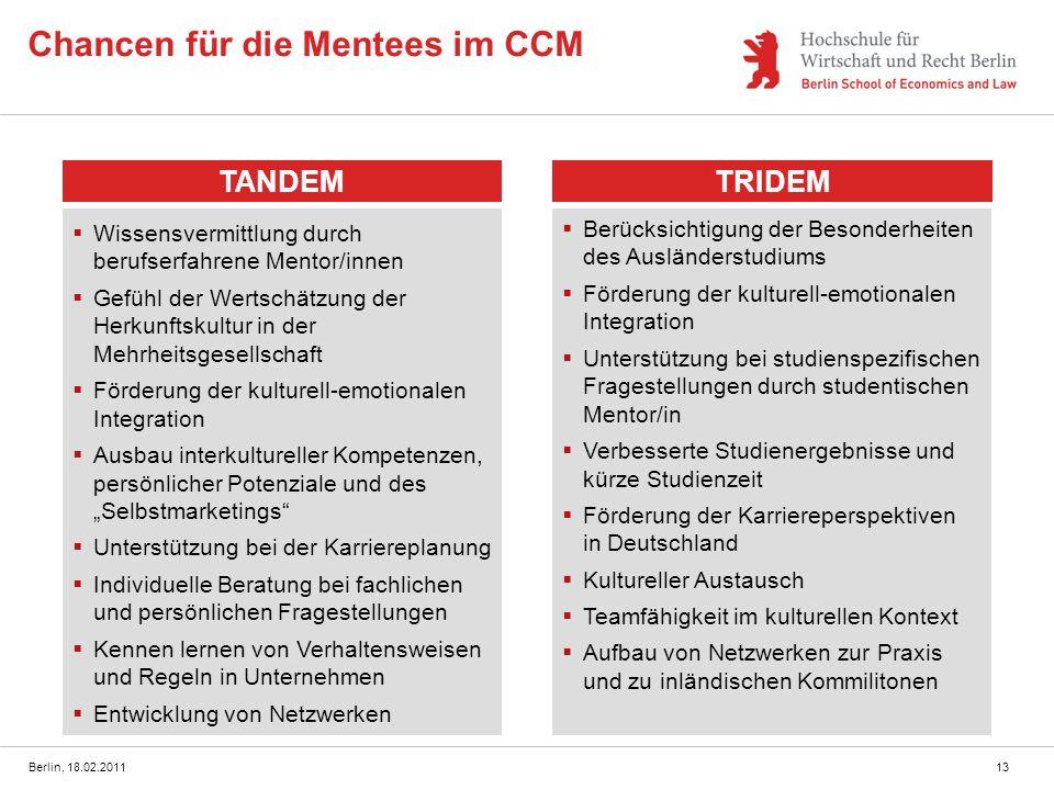 Chancen für die Mentees im CCM