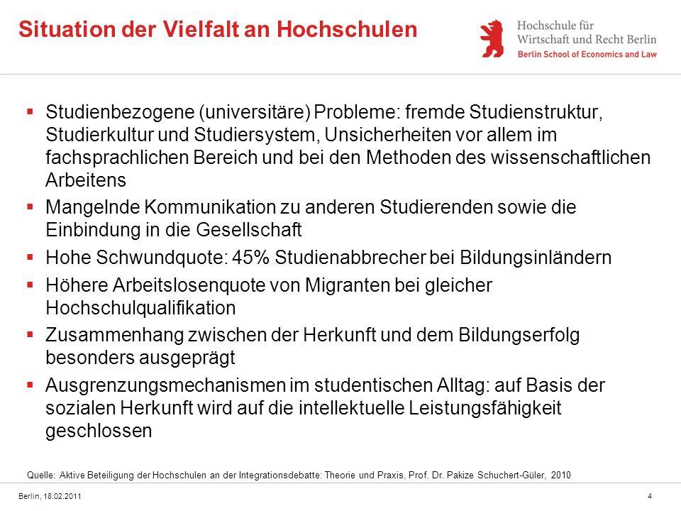 Situation der Vielfalt an Hochschulen