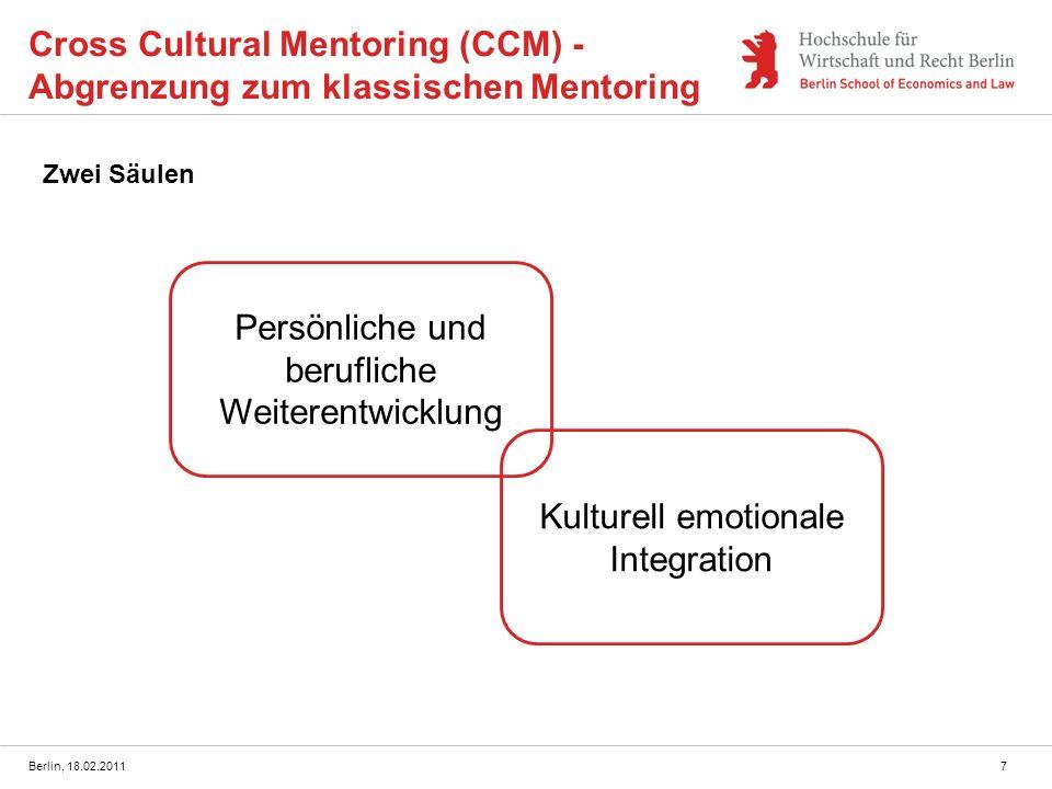 Cross Cultural Mentoring (CCM) - Abgrenzung zum klassischen Mentoring