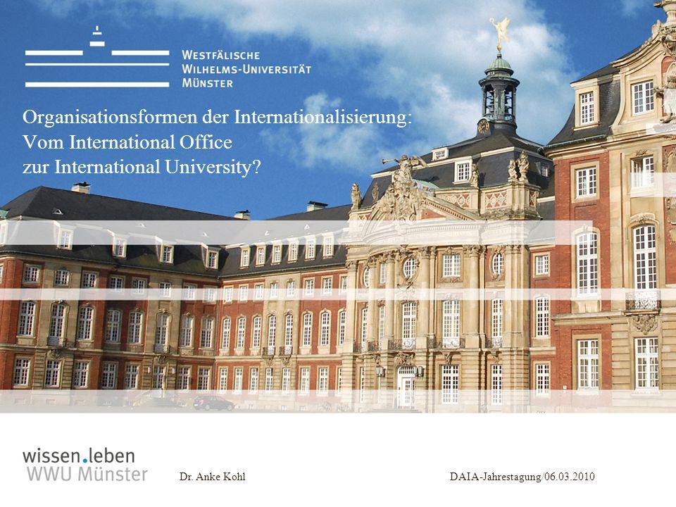 Organisationsformen der Internationalisierung: Vom International Office zur International University
