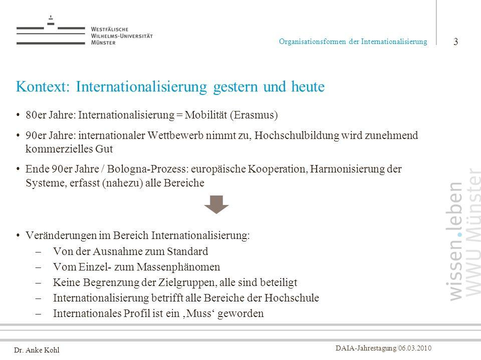 Kontext: Internationalisierung gestern und heute