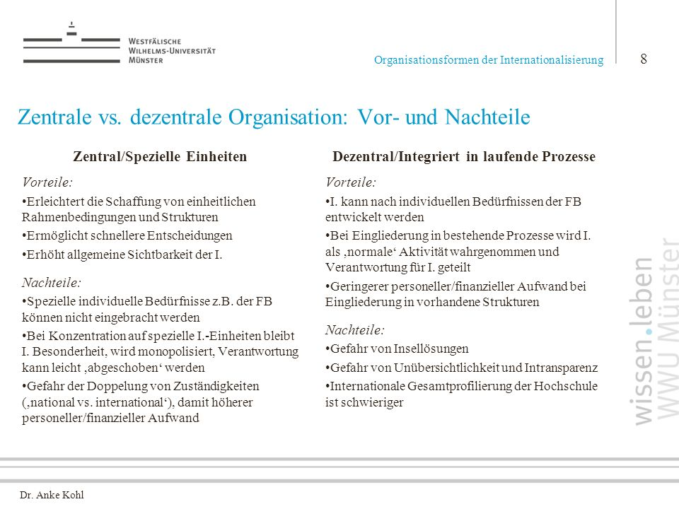 Zentrale vs. dezentrale Organisation: Vor- und Nachteile